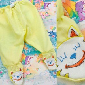 Vintage Baby Togs boy girl yellow cat footed pants